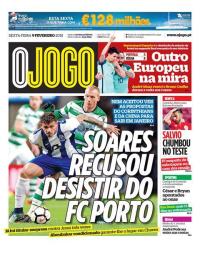 capa Jornal O Jogo de 9 fevereiro 2018