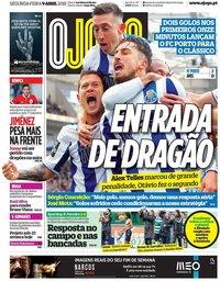 capa Jornal O Jogo de 9 abril 2018