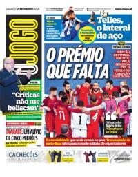 capa Jornal O Jogo de 10 fevereiro 2018