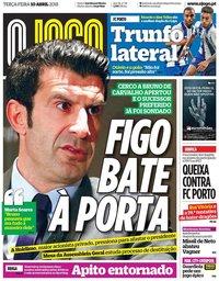 capa Jornal O Jogo de 10 abril 2018