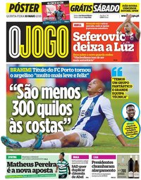 capa Jornal O Jogo de 10 maio 2018