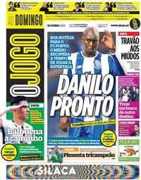 capa Jornal O Jogo de 10 junho 2018