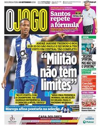 capa Jornal O Jogo de 10 setembro 2018