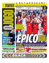 capa Jornal O Jogo de 11 fevereiro 2018