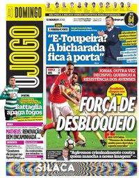 capa Jornal O Jogo de 11 março 2018