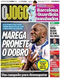 capa Jornal O Jogo de 11 abril 2018