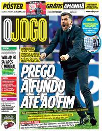 capa Jornal O Jogo de 11 maio 2018