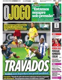 capa Jornal O Jogo de 12 março 2018