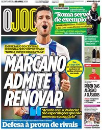 capa Jornal O Jogo de 12 abril 2018