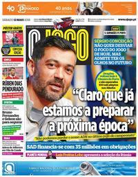 capa Jornal O Jogo de 12 maio 2018