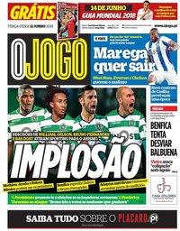 capa Jornal O Jogo de 12 junho 2018