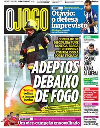 capa Jornal O Jogo de 12 setembro 2018