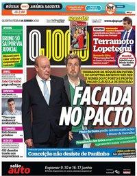 capa Jornal O Jogo de 14 junho 2018