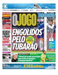 capa Jornal O Jogo de 15 fevereiro 2018