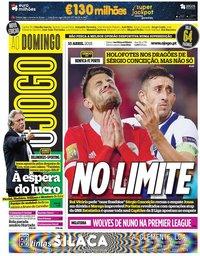 capa Jornal O Jogo de 15 abril 2018