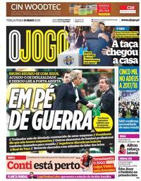 capa Jornal O Jogo de 15 maio 2018