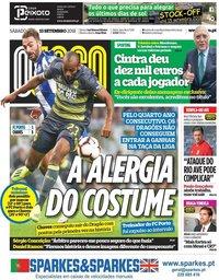 capa Jornal O Jogo de 15 setembro 2018