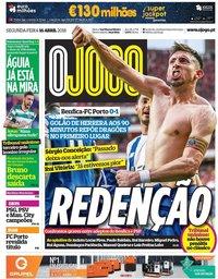 capa Jornal O Jogo de 16 abril 2018