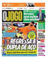 capa Jornal O Jogo de 17 fevereiro 2018