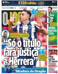 capa Jornal O Jogo de 17 abril 2018
