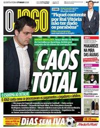 capa Jornal O Jogo de 17 maio 2018
