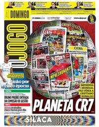 capa Jornal O Jogo de 17 junho 2018
