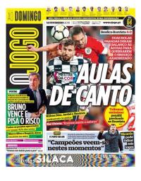 capa Jornal O Jogo de 18 fevereiro 2018
