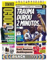 capa Jornal O Jogo de 18 março 2018