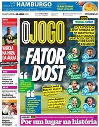 capa Jornal O Jogo de 18 abril 2018