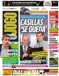 capa Jornal O Jogo de 18 maio 2018
