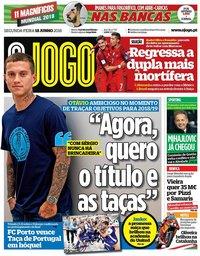 capa Jornal O Jogo de 18 junho 2018