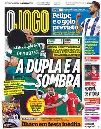 capa Jornal O Jogo de 19 março 2018