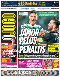 capa Jornal O Jogo de 19 abril 2018