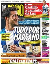 capa Jornal O Jogo de 19 maio 2018