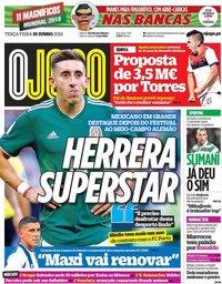 capa Jornal O Jogo de 19 junho 2018
