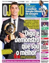 capa Jornal O Jogo de 20 março 2018