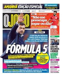 capa Jornal O Jogo de 21 fevereiro 2018