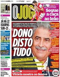 capa Jornal O Jogo de 21 abril 2018