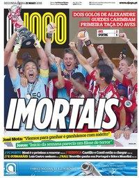 capa Jornal O Jogo de 21 maio 2018