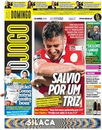 capa Jornal O Jogo de 22 abril 2018