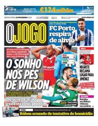 capa Jornal O Jogo de 23 fevereiro 2018