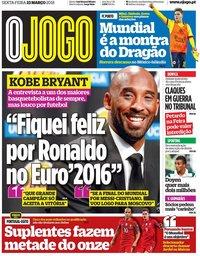 capa Jornal O Jogo de 23 março 2018