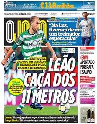capa Jornal O Jogo de 23 abril 2018