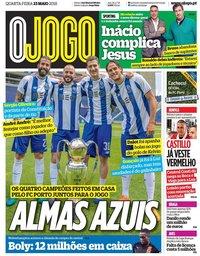 capa Jornal O Jogo de 23 maio 2018