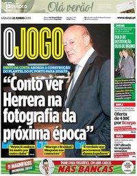 capa Jornal O Jogo de 23 junho 2018