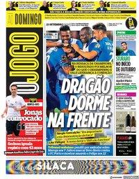 capa Jornal O Jogo de 23 setembro 2018