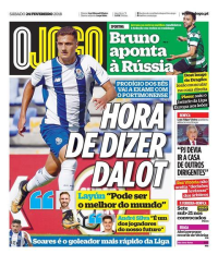 capa Jornal O Jogo de 24 fevereiro 2018