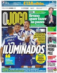 capa Jornal O Jogo de 24 abril 2018