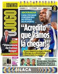 capa Jornal O Jogo de 25 março 2018