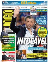capa Jornal O Jogo de 25 maio 2018